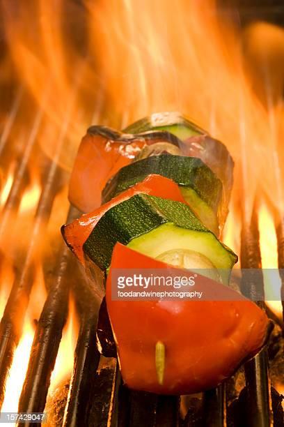 vegetable kebab - vegetable kebab stock pictures, royalty-free photos & images