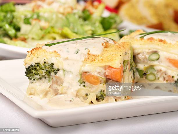 Vegetarische Lasagne mit Eis souce