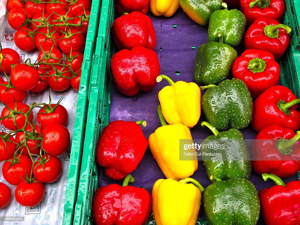 Vegetable market at Bern Switzerland : Stock Photo