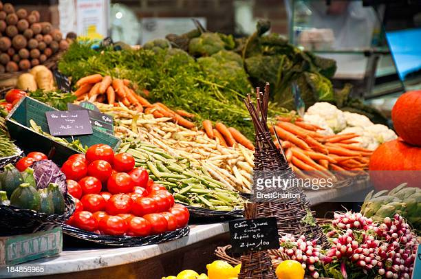 vegetable market - rouen stock pictures, royalty-free photos & images