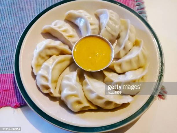 vegetable momo (mog mog), tibetan traditional food - ネパール ストックフォトと画像