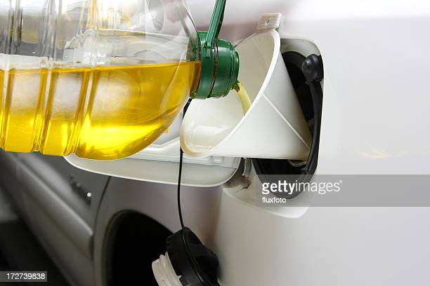 vegetable oil fuel - gas tank stock photos and pictures