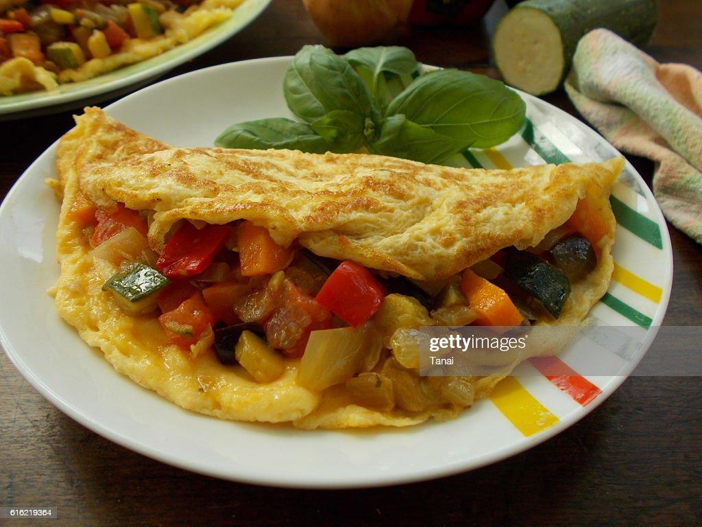 Vegetable omelette : Stock Photo