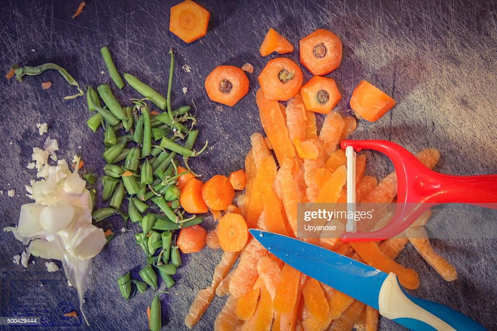 Vegetable peelings : Stock Photo