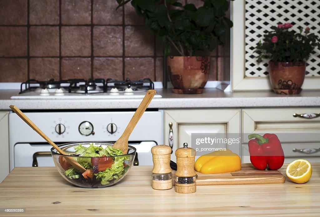 Salada de vegetais. Alimentos saudáveis. : Foto de stock