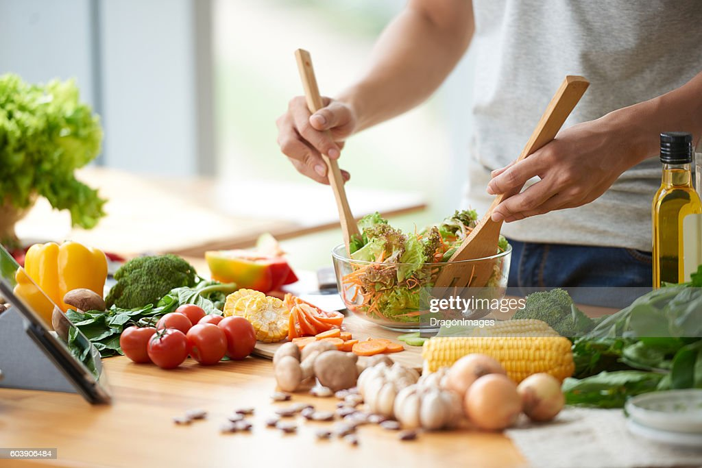 Vegetable salad : Stock Photo