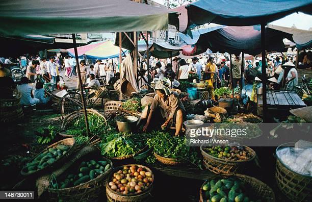 Vegetable seller at the Cholon Market
