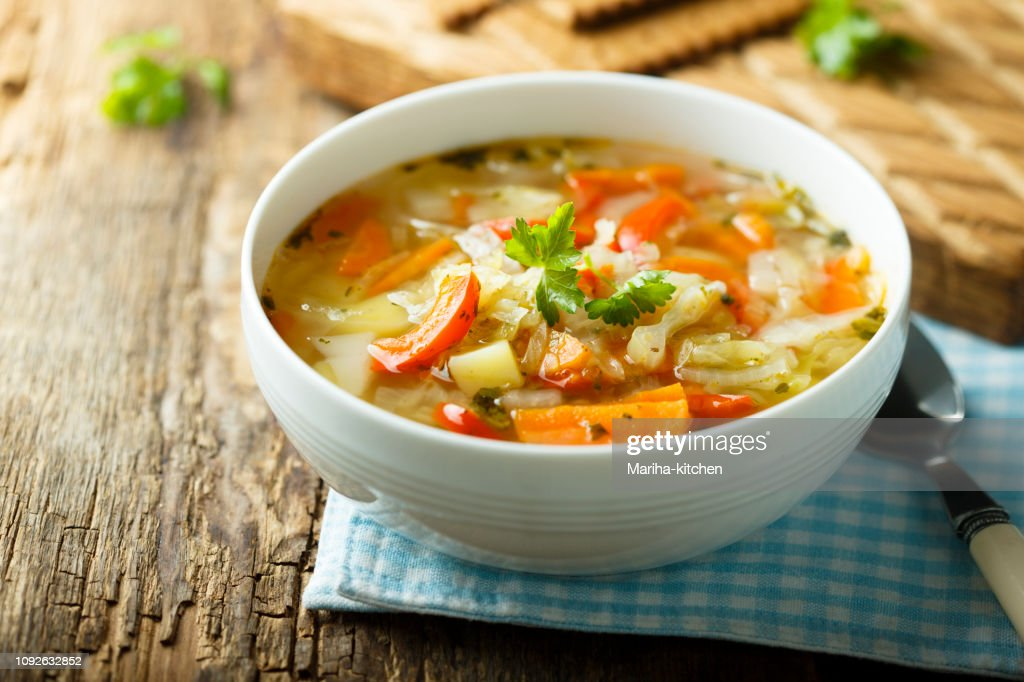 Vegetable soup : Stock Photo