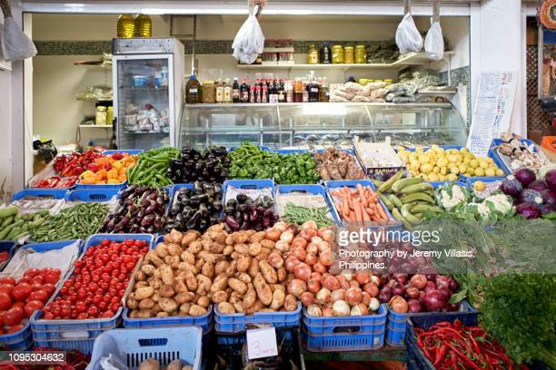 vegetable stall - republic of cyprus stock pictures, royalty-free photos & images