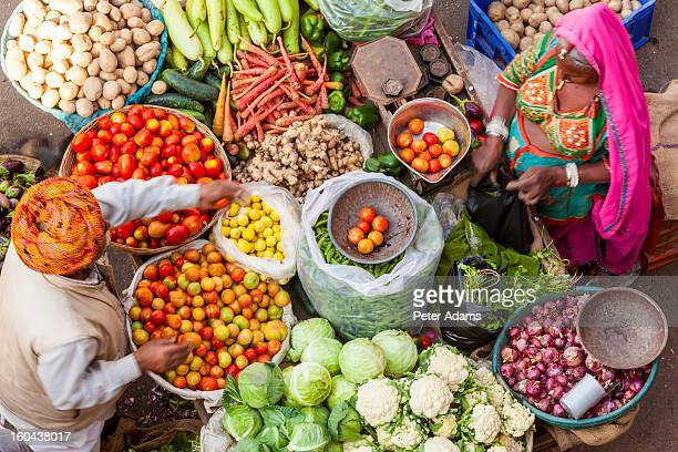 vegetable stall, pushkar, rajasthan state, india - abundance stock pictures, royalty-free photos & images