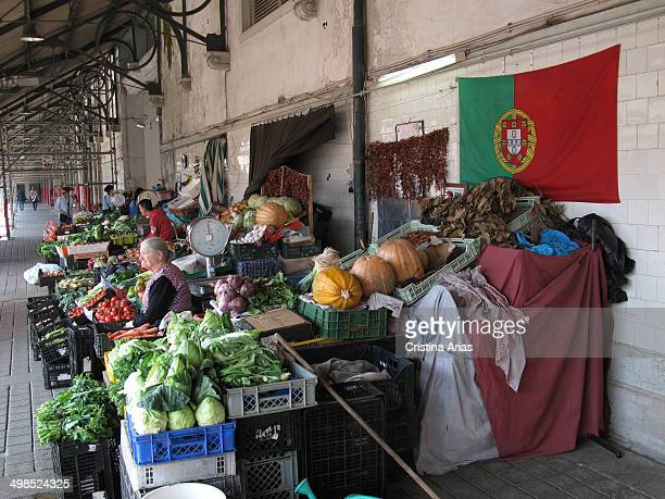 Vegetable stalls on the top floor of the Bolhao Market is the traditional market of the city of Oporto situated in the center of the city and in need...