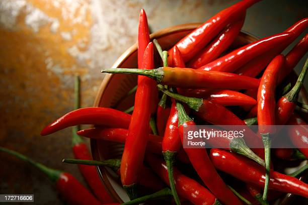 vegetable stills: chili pepper red - chili stock photos and pictures