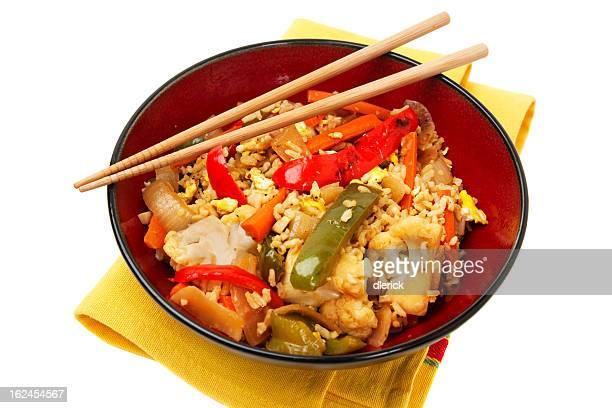 Légumes sautés et de riz