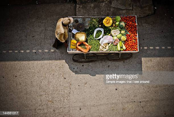 vegetable vendor - bangalore stock pictures, royalty-free photos & images
