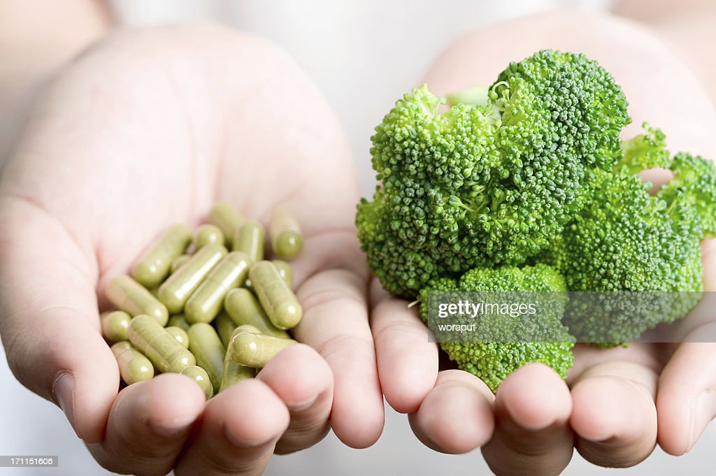 Vegetable with medicine. : Stock Photo