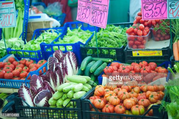 Vegetables at Farmers Market in Sanremo, Italy