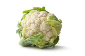 Vegetables: Cauliflower Isolated on White Background