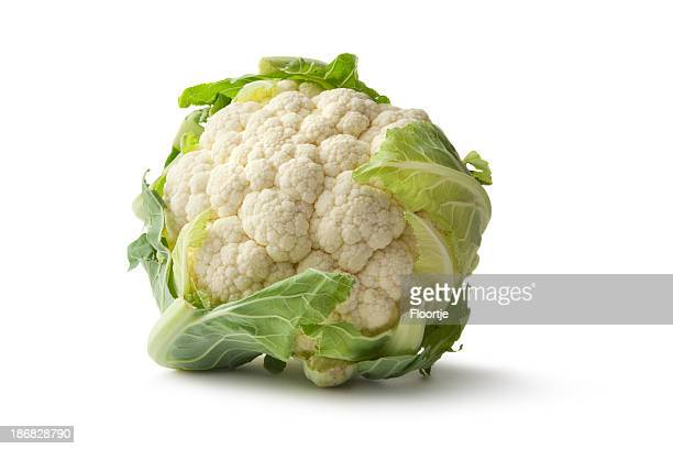 Vegetables: Cauliflower Isolated on White Background