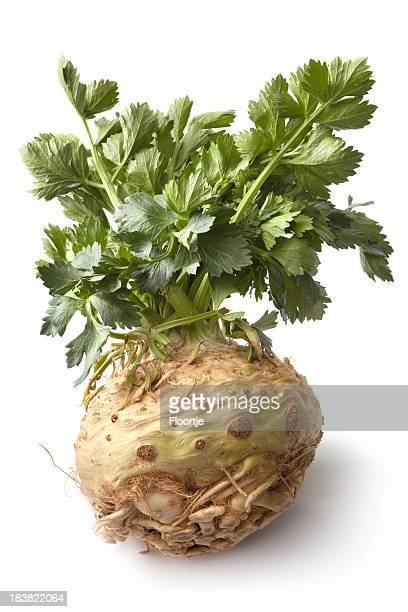 Vegetables: Celeriac Isolated on White Background