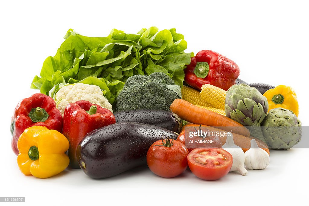 Vegetables Composition. Clipping Path included : Stock Photo