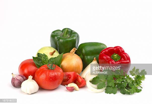 vegetables composition - pepper vegetable stock pictures, royalty-free photos & images