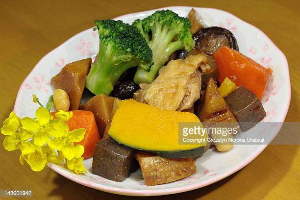 Vegetables cooked in Mirin and Shoyu