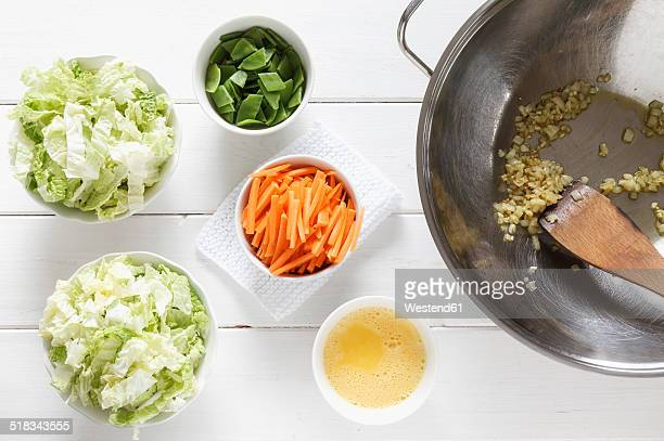 Vegetables for a wok dish