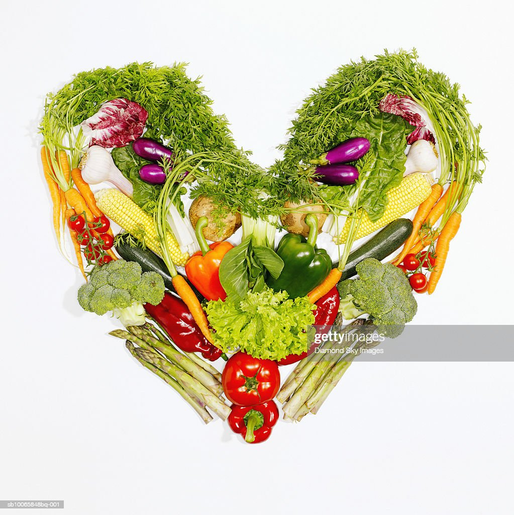Vegetables Forming Heart Shape Symbol Closeup Stock Photo Getty Images