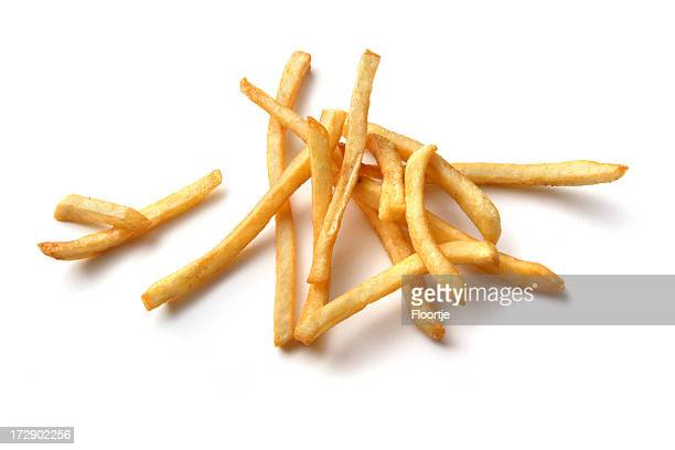 Vegetables: French Fries Isolated on White Background