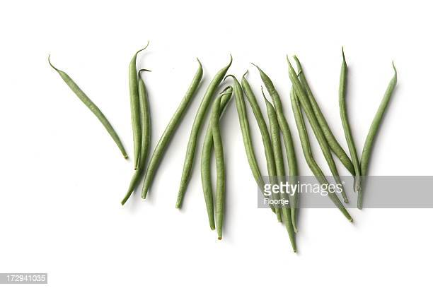 Vegetables: Green Bean Isolated on White Background