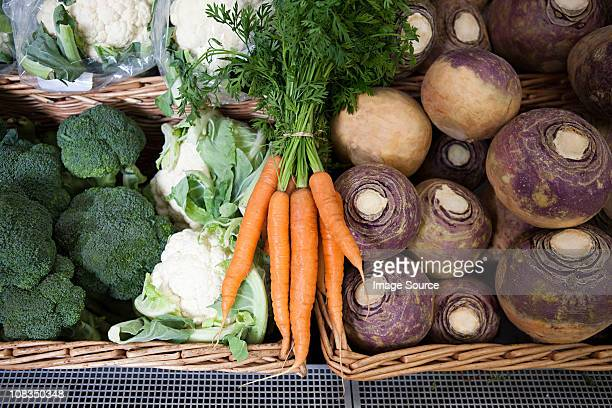 vegetables in supermarket - rutabaga stock pictures, royalty-free photos & images