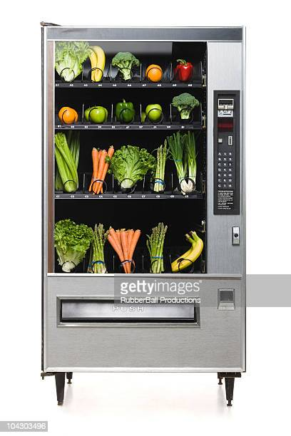 vegetables in the vending machine