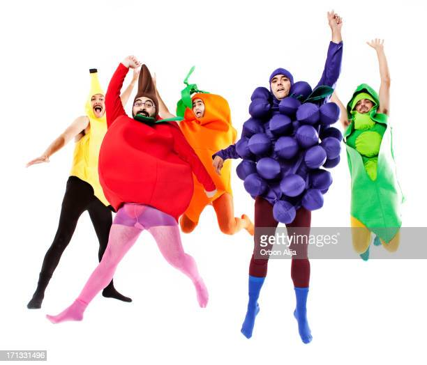 Vegetables jumping