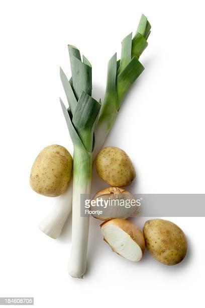 Légumes: Poireau, de pomme de terre et oignons