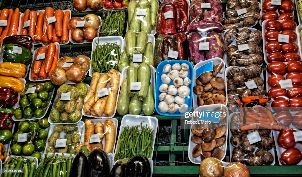 Vegetables on display : Stock Photo