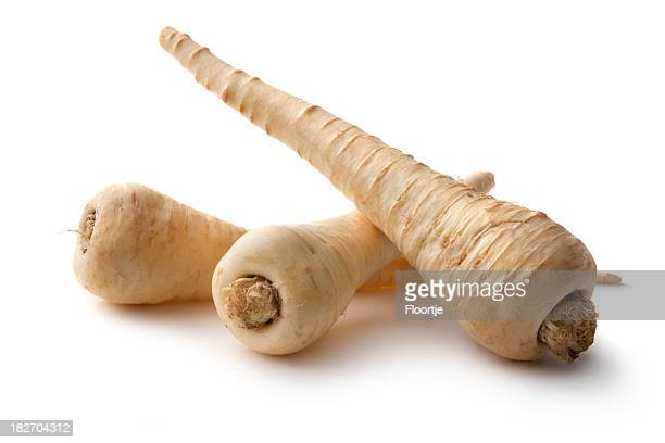 Vegetables: Parsnip Isolated on White Background