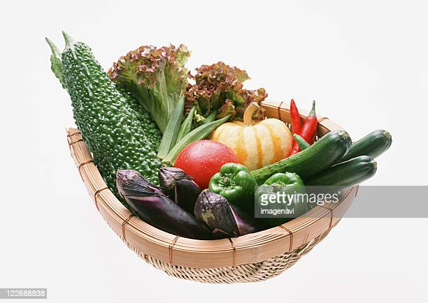 vegetables - colander stock photos and pictures