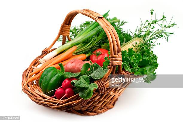 légumes - panier photos et images de collection