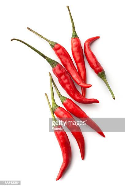 Vegetables: Red Chili Pepper Isolated on White Background