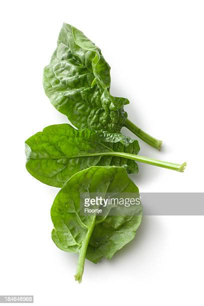 Vegetables: Spinach Isolated on White Background