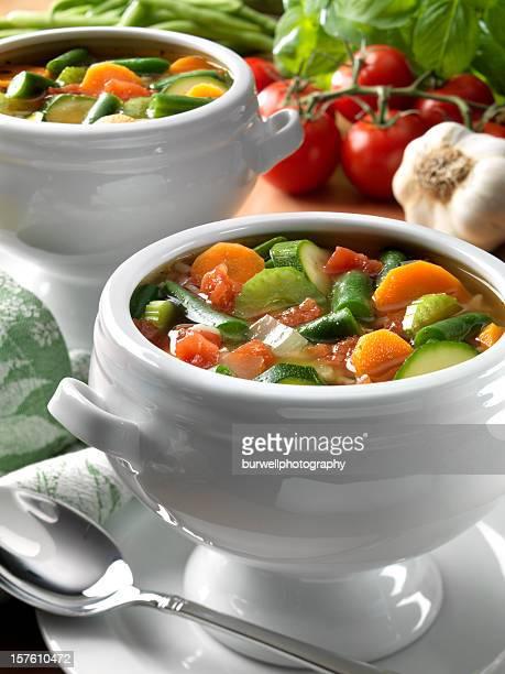 Vegetarian Minestrone or Vegetable Soup,