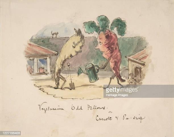 Vegetarian Odd Fellows: or, Carrott and Pa-Snip, 1837-64. Artist John Leech.