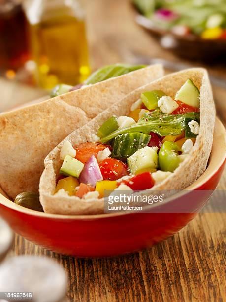 Pita végétariens poche