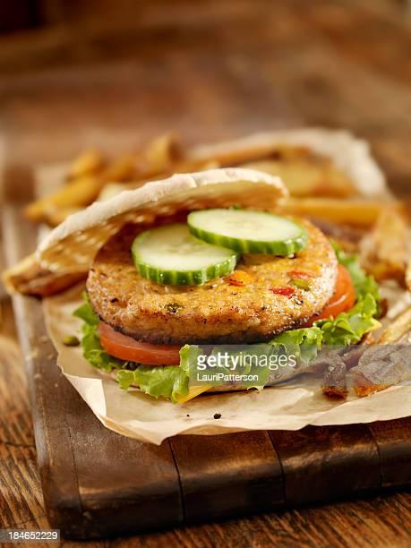 Vegetarian Pita Soy Burger