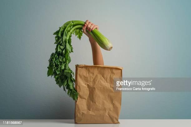 vegetarian shopping - tempio pausania stock pictures, royalty-free photos & images
