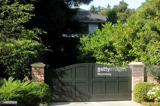 Vegetation covers the front of Facebook Inc.'s Chief Executive Officer Mark Zuckerberg's house in Palo Alto, California, U.S. On Saturday, July 14,...