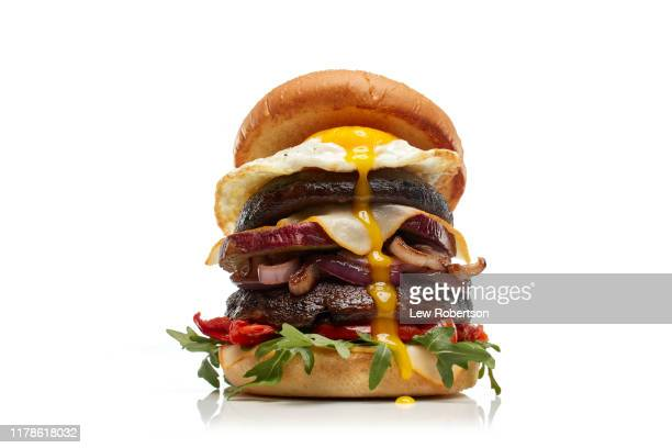 veggie burger - low angle view stock pictures, royalty-free photos & images