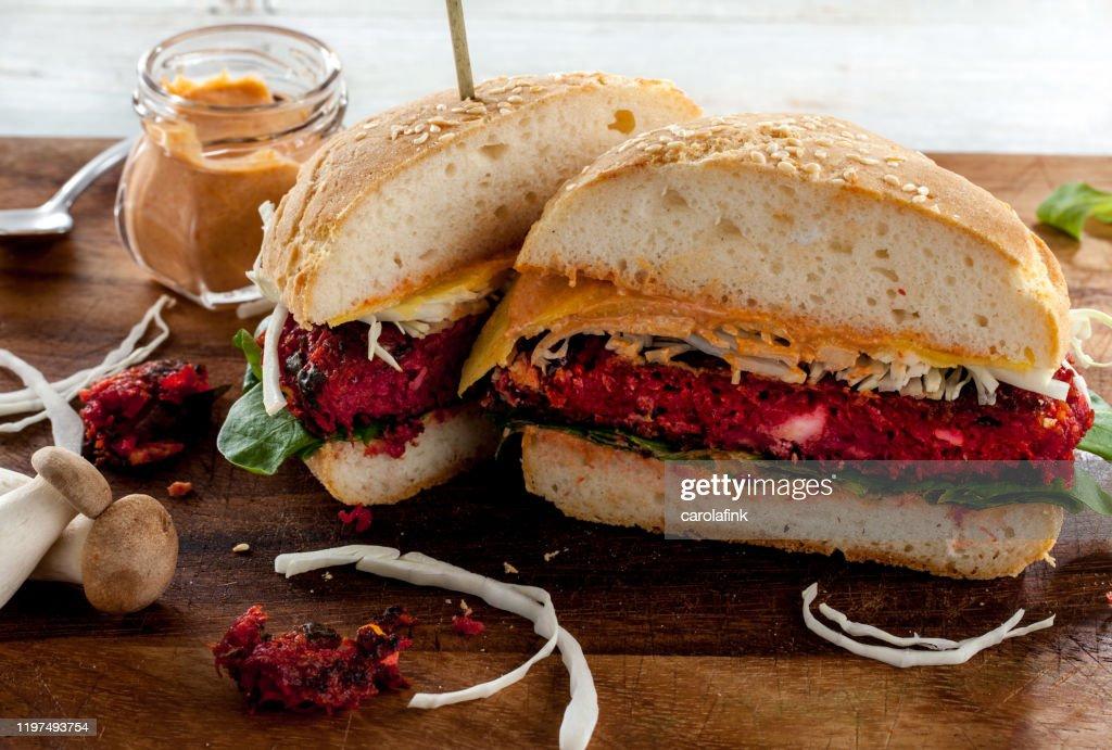 Veggie Burger : Stock-Foto