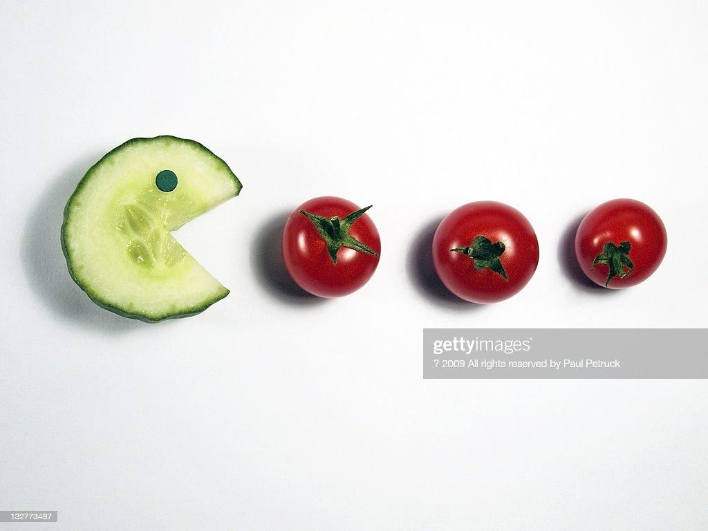 Veggie pacman : Stock Photo