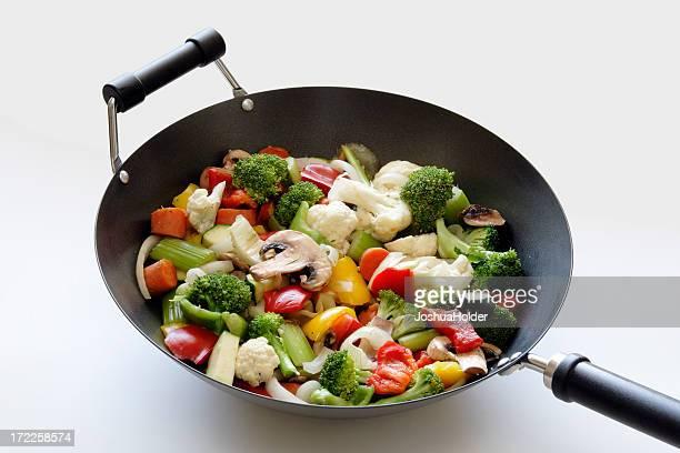 veggies in wok I